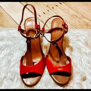 Tahari Betsy Red-Orange Sandals